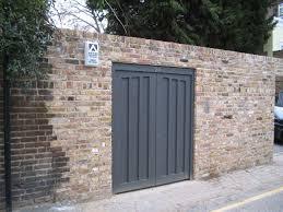 hinged garage doors h7 iroko panels goal post frame