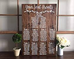 How To Make A Wedding Seating Chart Amazon Com Celycasy Wedding Seating Chart Sign Your Seat