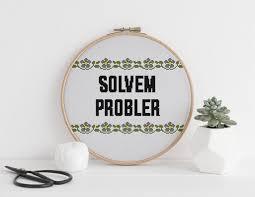 Solvem Probler Funny Cross Stitch Pattern Problem Solver