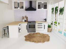 Miniature Dollhouse Kitchen Furniture Miniature Dollhouse Kitchen 112 Scale Modern Dollhouse Ideas