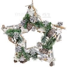 Weihnachtskranz Weihnachtsdeko Kranz Mit Holz Tannenzweigen Zapfen ø 43 Cm Matches21