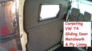 diy carpet vw t4 sliding door metalwork panels a fitting rubber seal