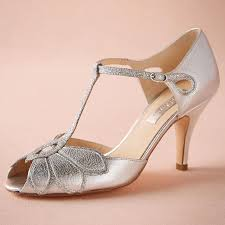 T Strap Wedding Shoes
