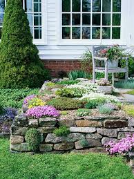 Small Picture Rock Garden Design Ideas Terraced garden Stone walls and Front