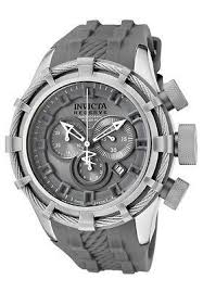 17 best images about watches skeleton watches new mens invicta 1374 bolt reserve swiss chronograph grey dial grey rubber watch