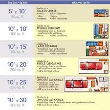Iowa Storage Solutions Size Chart