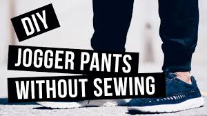 Make Pants Diy How To Make Jogger Pants Cuffs No Sewing