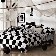 black and white checd bedding