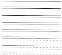 Kindergarten Lined Paper Template Kids Writing Paper Printable Lined Letter Writing Paper Template