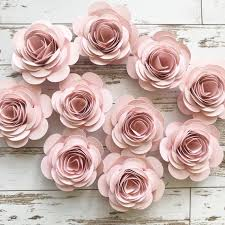 Pink Paper Flower Decorations Pink Paper Flowers Loose Flowers Rolled Paper Flowers Pink Party Decorations Wedding Table Decor Bridal Shower Party Summer Wedding