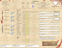 warhammer character sheet working on a new character sheet warhammer fantasy roleplay ffg