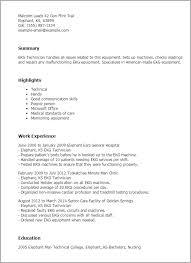 Resume Templates: Ekg Technician