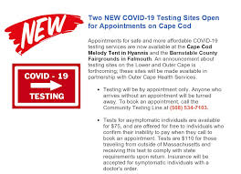update covid 19 test sites open for
