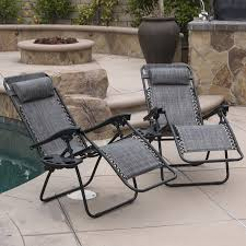 Patio Recliner Chairs Amazoncom Belleze 2 Pack Zero Gravity Chairs Patio Lounge Cup
