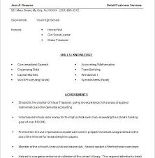 Free Student Resume Templates Adorable 28 Sample High School Resume Templates Pdf Doc Free Premium