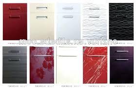 kitchen cabinet acrylic laminated shutter doors design