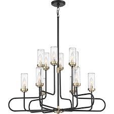 quoizel tenor earth black 12 light chandelier