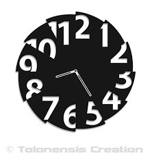 clock design broken time
