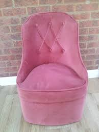 Bedroom Chair Pink Draylon Velvet Dressing Table Bucket Chair