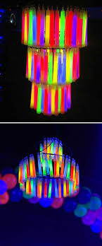 how about a glow stick chandelier