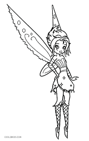 Printable Gothic Fairy Coloring Pages Warm For Adults Free Fairies