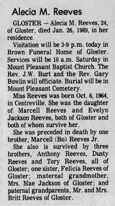 Obit- Alecia Mae Reeves - Newspapers.com