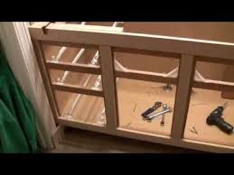 Bath Cabinet Refinishing Refacing Project Part 1 - YouTube