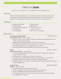 Resume Example With Skills Section