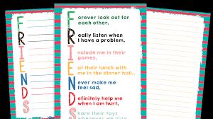 ks1 friends acrostic poems resource