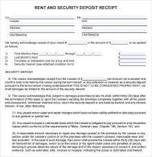 Deposit Receipt Sample 8 Deposit Receipt Templates Free Samples Examples Format