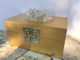 Decorative Display Boxes Brushed Gold Boxlarge Crystals BoxJewelry DisplayRemote Box 8