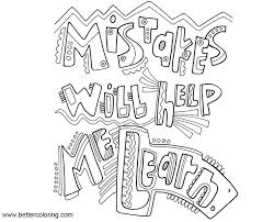 Growth Mindset Coloring Pages Mistakes Will Help Me Learn Free