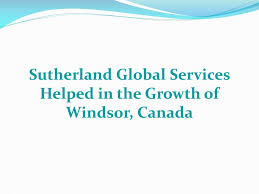 Ppt Sutherland Global Services Helped In The Growth Of