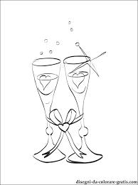 Disegno Di Bicchieri Nuziali Da Stampare Disegni Da Colorare Gratis