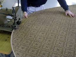custom edge finishing in our fully equipped carpet workroom