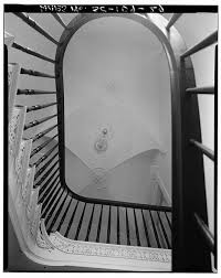 29. VIEW OF STAIR HALL CEILING FROM FIRST FLOOR - William Blacklock House,  18 Bull Street, Charleston, Charleston County, SC | Library of Congress