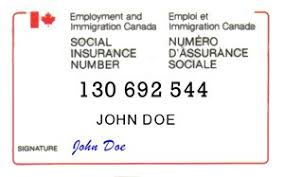 Insurance Canada Number Social -