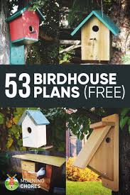 Birdhouse Stencils Designs 53 Free Diy Bird House A Little Of This A Little Of That