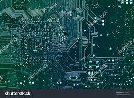 Motherboard Design Dark Background Silhouette Computer Motherboard Design Stock