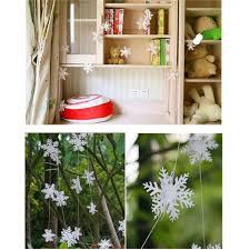 Hengsong Weihnachtsdeko Hängegirlanden Schneeflocke Hochzeit Neujahr