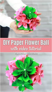 Making Of Flower With Paper How To Make A Gorgeous Diy Paper Flower Ball Diy Crafts