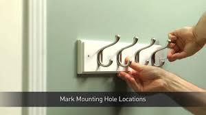 Hang Coat Rack How To Install A Hook Rail For Coats Hats YouTube 81