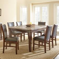 amazing steve silver eileen 7 piece marble topped dining table with dining room side chairs ideas