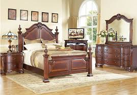 Queen Poster Bedroom Sets Cortinella Cherry King Bedroom Set For The Home  Pinterest Concept