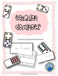 great for review and practice solving two step equations package include sets of 8