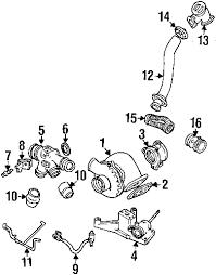 parts com® ford turbo exhaust gskt partnumber f4tz6n640b 2002 ford excursion xlt v8 7 3 liter diesel turbocharger components