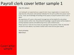 Payroll Clerk Cover Letter Sarahepps Com