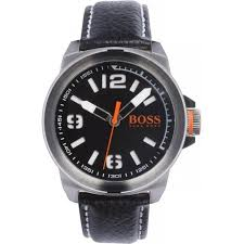 hugo boss orange watches for from tic watches uk 1513151 new york men s black leather watch hugo boss orange