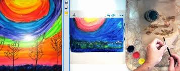 Mixing Primary Colors to Create Secondary Colors with Tempera Paint