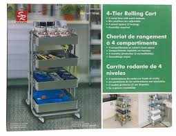 office rolling cart. SR 4-Tier Rolling Cart With 4 Adjustable Metal Bins Mesh Bottoms Indoor Use Office V